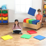 Rainbow Square Cushions and Tuf 2 Trolley Set of 32
